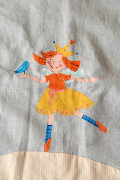 patchwork πάπλωμα κούνιας με νεράιδα baby patchwork quilt