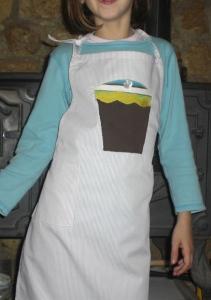 παιδική ποδιά Cup cake kids apron