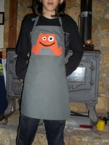 παιδική ποδιά βατραχοτερατάκια! kids apron