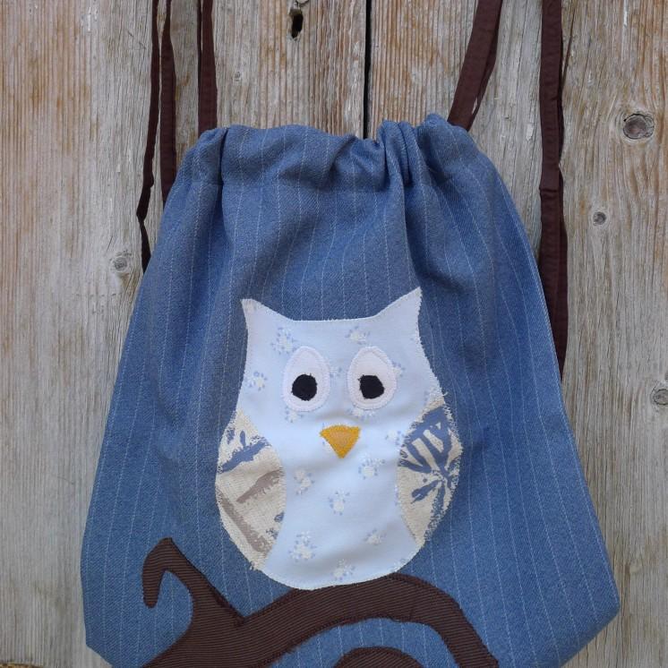 τσάντα πλάτης κουκουβάγια