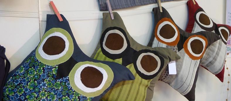 διακοσμητικά μαξιλάρια κουκουβάγιες