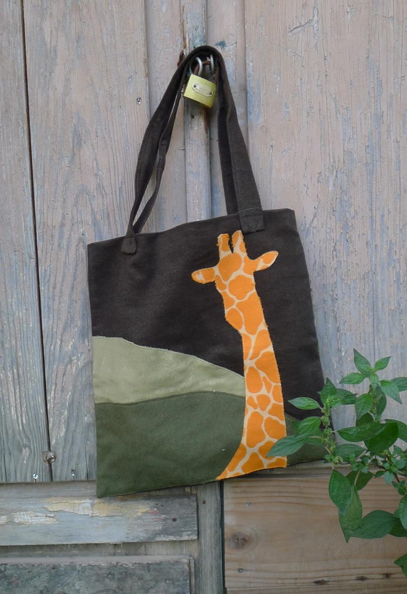 τσάντα ώμου καμηλοπάρδαλη