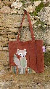 μεγάλη τσάντα με αλεπού