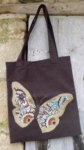 τσάντα με μεγάλη πεταλούδα