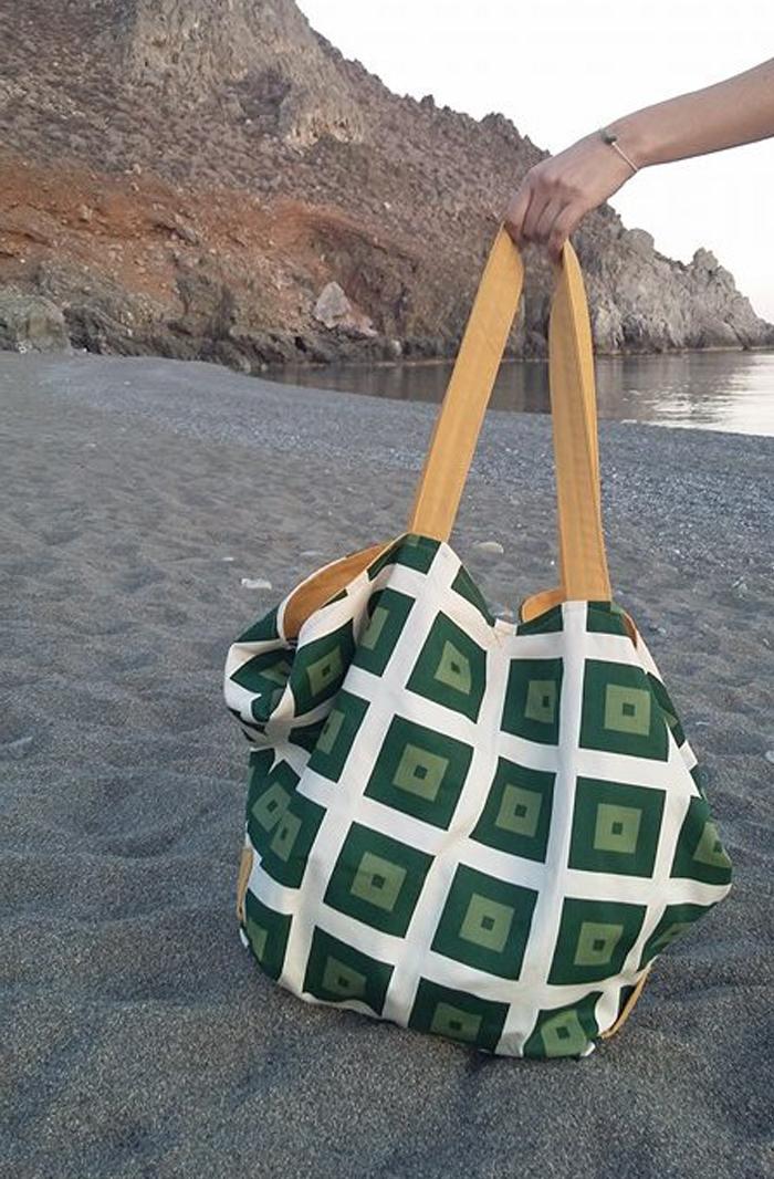 τσάντα ώμου παραλίας