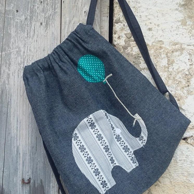 τσάντα πλάτης ελέφαντας-μπαλόνι