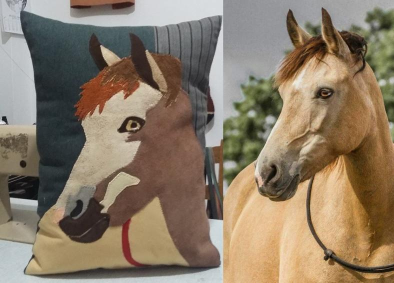 διακοσμητικό μαξιλάρι με παράσταση αλόγου