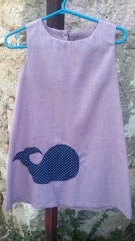 παιδικό φόρεμα φάλαινα