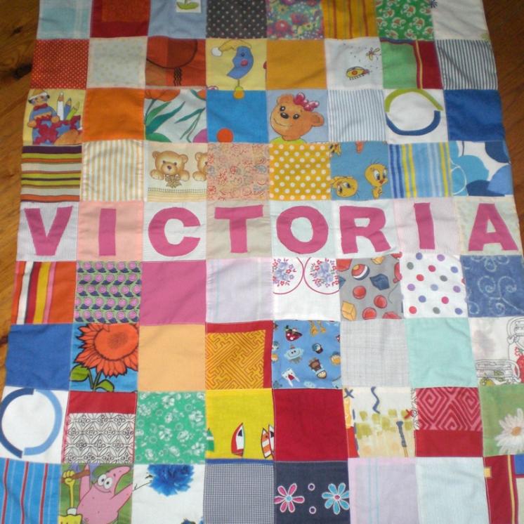 patchwork πάπλωμα κούνιας με όνομα