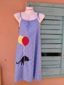 φόρεμα κορδόνια με γάτα
