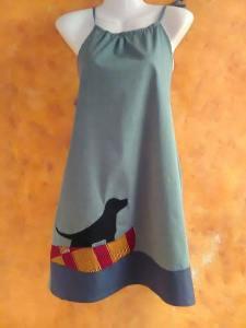 φόρεμα κορδόνια με σκύλο